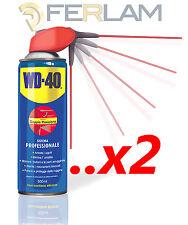 WD40 SBLOCCANTE 2 x 500ML LUBRIFICANTE PROFESSIONALE SPRAY CON EROGATORE FLEX