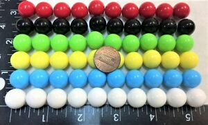 60 Opaque Solid Plastic 14mm Marbles Chinese Checkers Other Board Games Free Sh