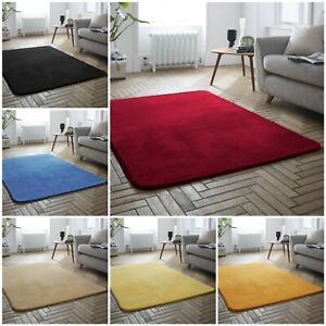 Large Non slip Bedroom Carpet Rug velvet shining Mink 160x230cm