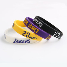 4 Pcs Los Angeles Lakers LeBron James Bracelets Wristband Silicone Rubber