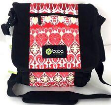 Boba Soho Pack Diaper Bag Red Black 10 Pocket Carryall Shoulder Tote c1082900af