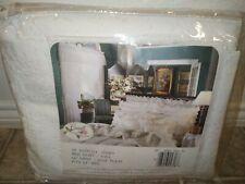 "New Vintage Croscill Eyelet Bed Skirt White Ivory 14"" Drop Royal Court Ruffle"