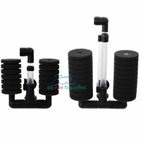 Bio Sponge Filter Betta Fry Shrimp Aquarium Fish Tank Double Head XY-2831/2822