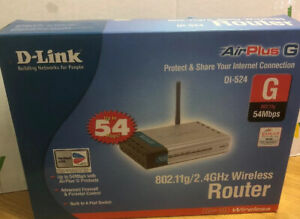 D-Link Router Wireless DI-524 802.11g 2.4GHz Tested Working