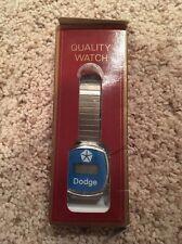 Vintage Silver Dodge Men's Digital Mechanical Analog Watch 1970's Dealer ONLY