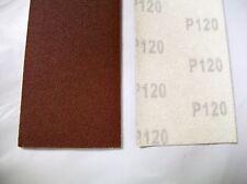 """16-1/2"""" H/L Body File Sheets Sandpaper 120 Grit, Lot of 50"""