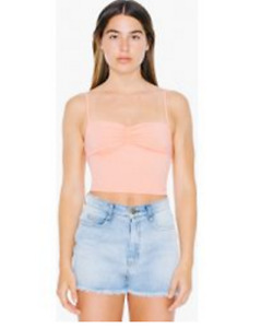 American Apparel Cotton Spandex Lace Back Tank Pink Cheeks Small rsa83269