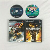 Lot of 4 PlayStation 2 PS2 games Spiderman Monopoly Party ATV Fury 2 tested