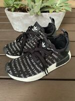 Adidas NMD r1 Blackout Boys Kids *Rare* Black Boost Sneakers Shoes Size 4.5 EUC