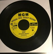 HERMAN'S HERMITS: Dandy / My Reservation KINKS Cover MGM DJ Promo Psych 45 VG