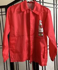 EUC VTG. Hello Kitty Red Wind Breaker Rain Coat  No Hood Size Small Button Down