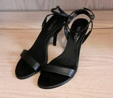 Via Uno High Heel Sandals Strap Women Shoes Size 7 US 38 EUR from Brazil - Black