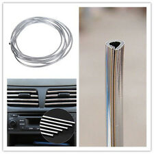 Silver Car Interior Decor Door Chrome Moulding Trim Strip U Style Decoration 4M