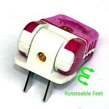 1x Rotate Foot Foldable Fix 2Pin 250V/16A US Plug Rewirable Power Connector DIY