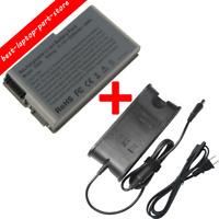 Laptop Battery/Charger for Dell Latitude D520 D500 D600 D610 C1295 600m D530 BT