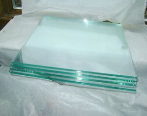"""10.75"""" Square, 1/4"""" thick, FLOAT GLASS, 4 pieces, for FUSING OR INDUSTRIAL Use"""