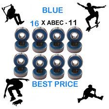 16 Blue Abec 11 Wheel bearings Skateboard stunt scooter inline Roller skate 9
