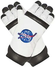 NASA Astronaut Gloves In White USA Costume Halloween Space One Size  Adult Gift