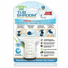 (White) TubShroom Hair Catcher, Strainer, Drain Protector for Tub 100% Authentic