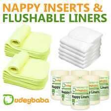 Reusable Washable Inserts Boosters Liners For Real Pocket Cloth Nappy bamboo