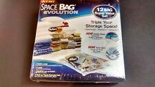Space Bag Evolution 12 Bag Super Value Set Compress Protect Organize NEW