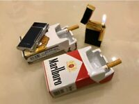 Marlboro Ceramic Ashtray Vintage Tobacco Cigarette Box For Smoker Classic Design