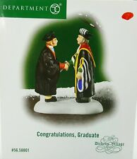 Dept 56 Dickens Village Congratulations Graduate University Graduation 58801 NEW