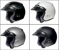SHOEI RJ Platinum-R Plain Open Face Motorcycle Motorbike Helmet SRP £259.99