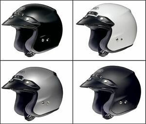 SHOEI RJ Platinum-R Plain Open Face Motorcycle Motorbike Helmet SRP £259.99