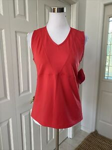 NWT Terry  Tourista Cycling V Neck Tank Jersey Rosehip L