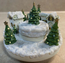 Our America Winter/Christmas Village Candle Topper For Yankee Candle