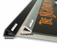 Posterleisten 93cm Schwarz - 1 Paar =2St. Kunststoff