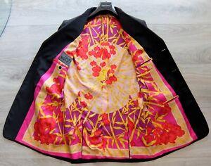 GIANNI VERSACE COUTURE SAKKO 54 jacket blazer jacke suit silk iconic greca print
