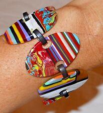 Sobral Patchwork Alinhavado Colorful Bracelet Brazil Import