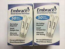 Embrace Blood Glucose (100) Test Strips  Expiration: 08/02/2018
