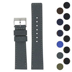 StrapsCo 22mm Nylon Smart Watch Band Strap with Quick Release Spring Bars