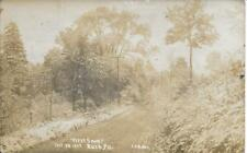 First Snow Rush Pa Susquehanna County Rppc Vintage Real Photo Postcard used 1908