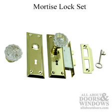 Mortise Lock Set with Glass Knobs