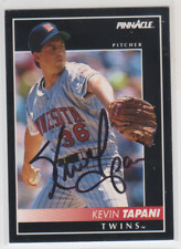 Autographed 1992 Pinnacle Keven Tapani - Twins