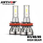 Mini H11 LED Headlight Kit H9 H8 1200W 280000LM High Low Beam Bulb HID Fog Light