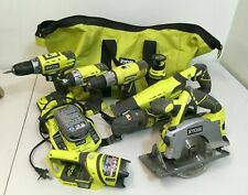 Cordless Combo Kit Power Tools Set 18-Volt Lithium-Ion 8-Piece Carrying Bag