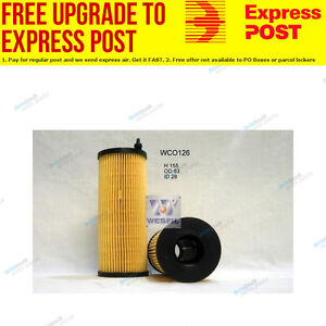 Wesfil Oil Filter WCO126 fits BMW 3 Series 320 d (E90)
