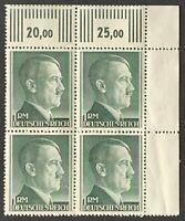Germany. German Reich. 1RM. Hitler Definitives BLOCK. SG799. 1942. MNH. #SC89