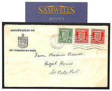 MS1973 1942 WW2 Guernsey German Occupation Insular mail to farm produce board