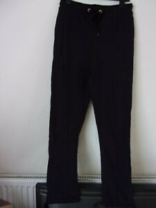 New South Beach Black Slim Fit Joggers / Jogging Bottoms  Size: UK 10 RRP: £22