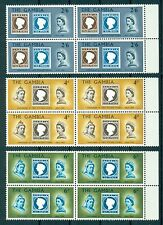 GAMBIA *1969 * compl.3 blocks of 4 * MNH** 100 years Post stamp - Mi. No 233-235