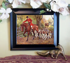 hDrummond Horse Fox Hunt AT THE GATE Print Style Framed 11X13 pony d pc fh