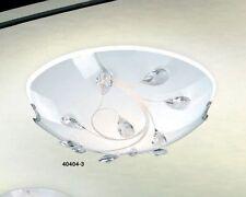 Lampada da Soffitto Plafoniera Vetro Decorato Nichel Stile moderno Nuovo 40785