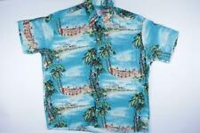 Vtg Whooos Clothing Hawaiian Aloha Print Rockabilly Rayon Mod Shirt 1X