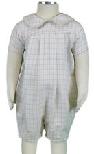 JACADI Unisex Avers Beige Embroidered Collared Jumpsuit Size 3 Months $66 NWT